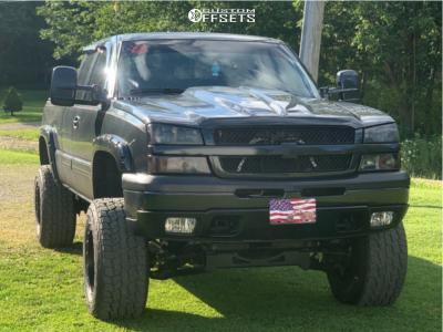 """2004 Chevrolet Silverado 2500 - 18x12 -44mm - Fuel Hostage - Suspension Lift 6"""" - 35"""" x 12.5"""""""