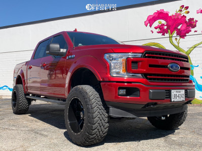 """2018 Ford F-150 - 20x12 -44mm - Alloy Ion Style 141 - Suspension Lift 6"""" - 35"""" x 12.5"""""""