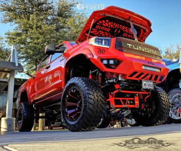"""2016 Toyota Tundra - 22x12 -44mm - Fuel Assault - Lifted >12"""" - 40"""" x 15.5"""""""
