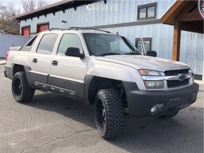 "2006 Chevrolet Avalanche 1500 - 20x10 -12mm - Fuel Krank - Leveling Kit - 33"" x 12.5"""