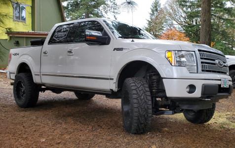 "2012 Ford F-150 - 22x10 -24mm - Fuel Maverick - Suspension Lift 4"" - 35"" x 12.5"""