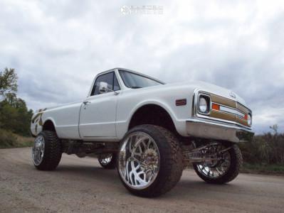 "1972 Chevrolet K20 Pickup - 26x16 -101mm - RBP Forged Mojave - Suspension Lift 5"" - 37"" x 13.5"""