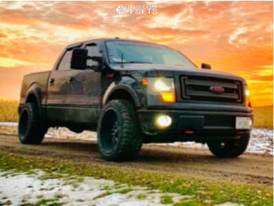 """2013 Ford F-150 - 22x12 -44mm - Twisted Offroad Billet - Stock Suspension - 33"""" x 12.5"""""""