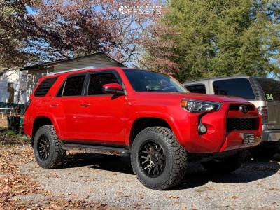 "2014 Toyota 4Runner - 18x9.5 15mm - V-Rock Recoil - Suspension Lift 2.5"" - 275/70R18"