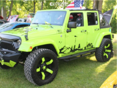 "2013 Jeep Wrangler JK - 20x10 -24mm - Xd Rockstar Ii - Suspension Lift 2.5"" - 35"" x 12.5"""