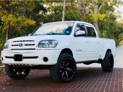 2006 Toyota Tundra - 22x11.5 -40mm - DX4 Skull - Leveling Kit - 305/45R22