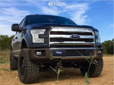 """2015 Ford F-150 - 20x10 -12mm - RBP 65r - Suspension Lift 5"""" - 35"""" x 12.5"""""""