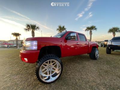 "2011 Chevrolet Silverado 1500 - 26x16 -101mm - Fuel Forged Ff66 - Suspension Lift 7"" - 37"" x 13.5"""
