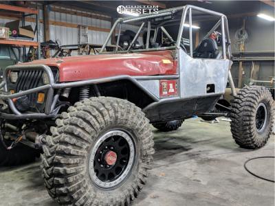 "1987 Jeep Wrangler - 17x8.5 0mm - Method Mr105 - Suspension Lift 2.5"" - 40"" x 13.5"""