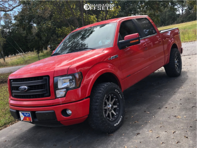 2013 Ford F-150 - 18x9 18mm - XD Addict - Leveling Kit - 295/70R18