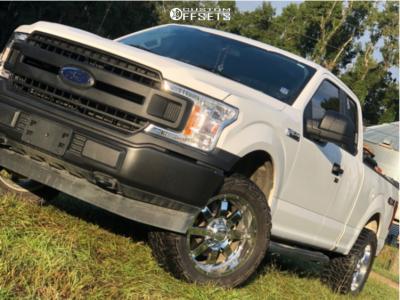 """2018 Ford F-150 - 20x10 -19mm - Gear Off-Road Big Block - Leveling Kit - 33"""" x 12.5"""""""