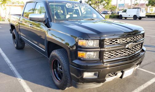 "2014 Chevrolet Silverado 1500 - 17x9.5 25mm - Race Star Industries 93 Truck Star Wheels - Level 2"" Drop Rear - 285/70R17"