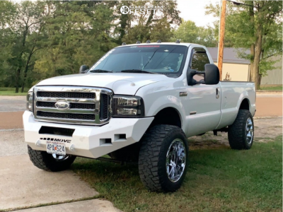 """2005 Ford F-350 Super Duty - 20x12 -44mm - Fuel Hostage - Stock Suspension - 35"""" x 12.5"""""""