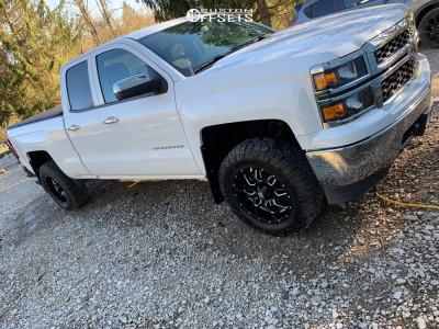 "2015 Chevrolet Silverado 1500 - 18x9 -12mm - Havok H109 - Suspension Lift 2.5"" - 275/65R18"