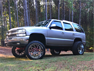 """2005 Chevrolet Tahoe - 24x14 -76mm - Xtreme Force Xf8 - Suspension Lift 6"""" - 35"""" x 13.5"""""""