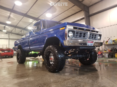 """1977 Ford F-150 - 20x12 -44mm - Fuel Lethal D266 - Suspension Lift 6"""" - 35"""" x 12.5"""""""