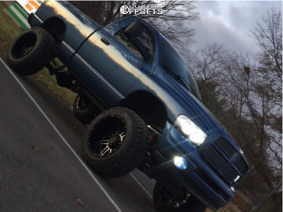 "2002 Dodge Ram 1500 - 22x14 -76mm - Anthem Off-Road Instigator - Suspension Lift 9"" - 37"" x 13.5"""