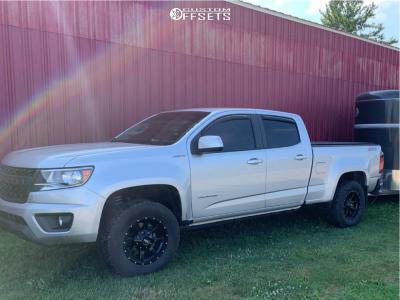 2018 Chevrolet Colorado - 17x8 0mm - Moto Metal Mo970 - Leveling Kit - 265/65R17