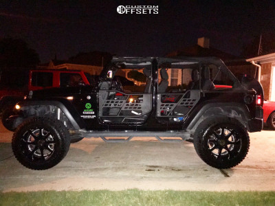 "2015 Jeep Wrangler JK - 20x12 -44mm - Anthem Off-Road Commander - Suspension Lift 3.5"" - 35"" x 12.5"""