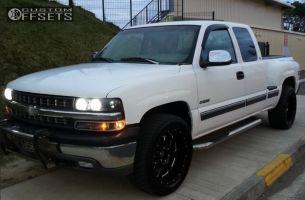 2001 Chevrolet Silverado 1500 - 20x9.5 -6mm - Pro Comp Series 83 - Stock Suspension - 275/55R20