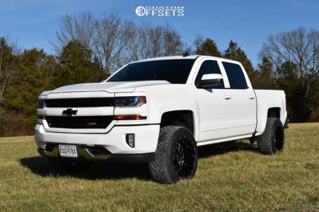 "2018 Chevrolet Silverado 1500 - 20x12 -44mm - Hardrock Crusher - Suspension Lift 2.5"" - 305/50R20"