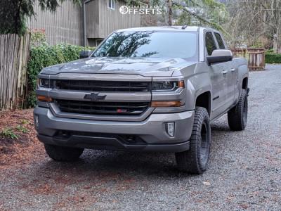 "2017 Chevrolet Silverado 1500 - 17x8 0mm - Pro Comp Series 89 - Suspension Lift 3"" - 285/70R17"