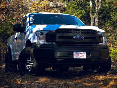 2018 Ford F-150 - 20x12 -43mm - Fuel Flow - Leveling Kit - 285/55R20