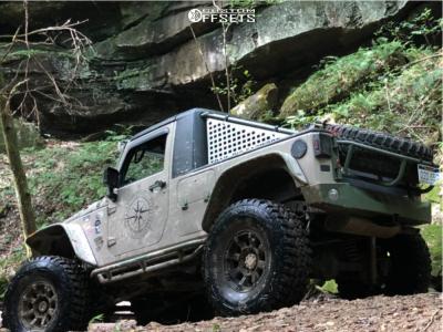 """2016 Jeep Wrangler JK - 17x9 -12mm - Anthem Off-Road Defender - Suspension Lift 6"""" - 40"""" x 13.5"""""""