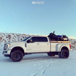 """2019 Ford E-350 Super Duty - 22x10 -18mm - Fuel Triton - Suspension Lift 4"""" - 35"""" x 12.5"""""""