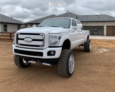 """2015 Ford F-350 Super Duty - 24x14 -73mm - American Force Rebel Ss8 - Air Suspension - 37"""" x 14.5"""""""
