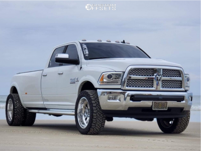 2018 Ram 3500 - 22x10 -25mm - Fuel Forged Ff45 - Stock Suspension - 285/55R22