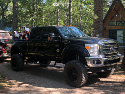 """2016 Ford F-350 Super Duty - 20x12 -44mm - Fuel Hostage D531 - Suspension Lift 8"""" - 37"""" x 12.5"""""""