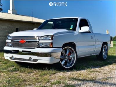 2006 Chevrolet Silverado 1500 - 22x9.5 1mm - Foose Legend - Stock Suspension - 265/40R22