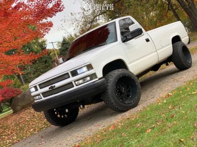 1997 Chevrolet K2500 - 20x12 -51mm - Vision Rocker - Stock Suspension - 305/50R20