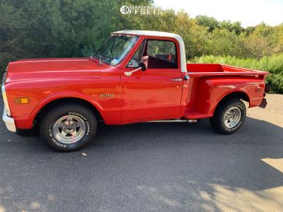 "1970 Chevrolet C10 Pickup - 15x8 -19mm - American Racing Ar23 - Lowered 2F / 4R - 29"" x 10.5"""