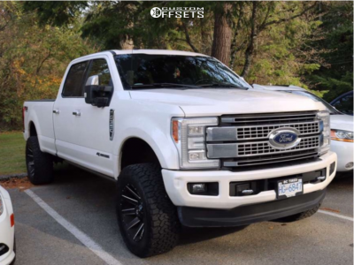 """2017 Ford F-350 Super Duty - 20x12 -44mm - Fuel Contra - Leveling Kit - 35"""" x 12.5"""""""