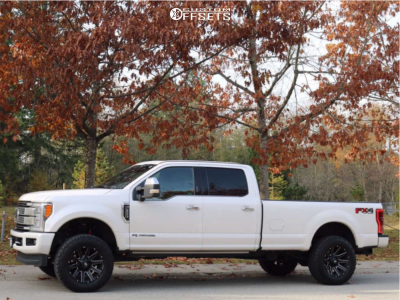 """2017 Ford F-350 Super Duty - 20x10 -18mm - Fuel Contra - Leveling Kit - 35"""" x 12.5"""""""