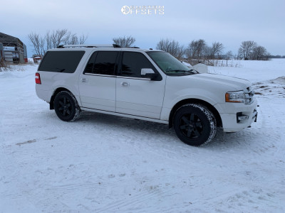 2016 Ford Expedition - 20x8.5 35mm - Raceline Addict - Stock Suspension - 275/55R20
