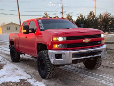 """2015 Chevrolet Silverado 2500 HD - 17x8.5 0mm - Method Grid - Leveling Kit - 35"""" x 12.5"""""""