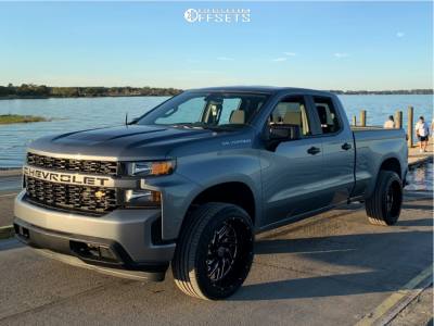 2019 Chevrolet Silverado 1500 - 22x12 -44mm - Hardcore Offroad Hc11 - Leveling Kit - 305/35R22