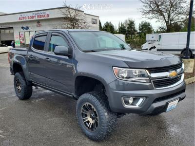 "2016 Chevrolet Colorado - 18x9 0mm - Helo He904 - Suspension Lift 6"" - 285/65R18"