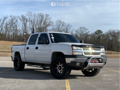 "2004 Chevrolet Silverado 1500 - 20x10 -24mm - American Truxx Vortex - Body Lift 3"" - 35"" x 12.5"""