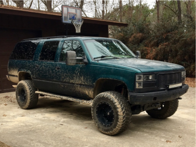 "1996 Chevrolet K1500 Suburban - 18x12 -44mm - Fuel Hostage - Suspension Lift 6"" - 35"" x 12.5"""