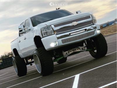 "2011 Chevrolet Silverado 1500 - 24x16 -103mm - Specialty Forged Sf036 - Suspension Lift 9"" - 37"" x 13.5"""