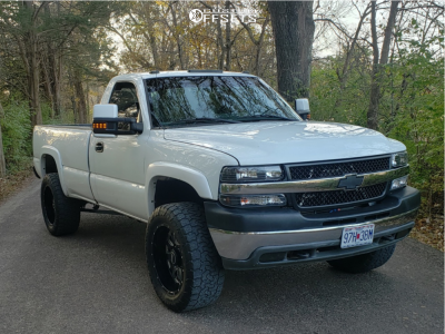 "2001 Chevrolet Silverado 2500 - 20x10 -25mm - BMF Novakane - Stock Suspension - 33"" x 55"""