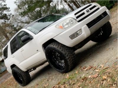 "2004 Toyota 4Runner - 22x12 -44mm - Xtreme Mudder Xm-306 - Stock Suspension - 33"" x 12.5"""