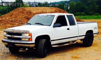1996 Chevrolet K1500 - 16x8 -12mm - Red Dirt Road Boss - Stock Suspension - 265/75R16