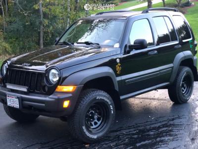 "2007 Jeep Liberty - 16x8 -6mm - Pro Comp 51 - Suspension Lift 2.5"" - 265/75R16"