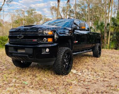 "2019 Chevrolet Silverado 2500 HD - 22x10 -18mm - Fuel Sledge - Suspension Lift 4.5"" - 35"" x 12.5"""