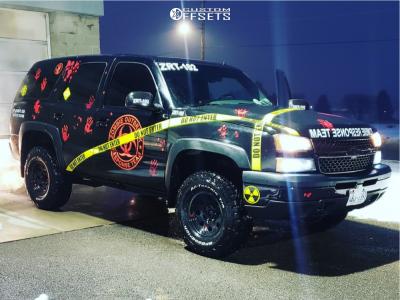 "2002 Chevrolet Tahoe - 16x8 0mm - American Racing Ar172 - Suspension Lift 3"" - 285/75R16"